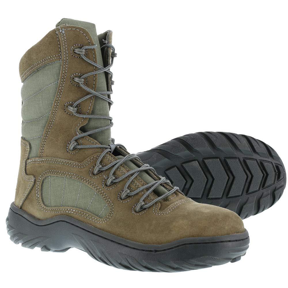 Reebok Work Men's Rapid Response RB8990 Work Boot,Sage Green,10 W US