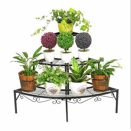 5c3bbc889787 Stable 3 Tier Plant Flower Pot Stand Floor Support Stand Ladder Corner Rack  Indoor Garden Patio