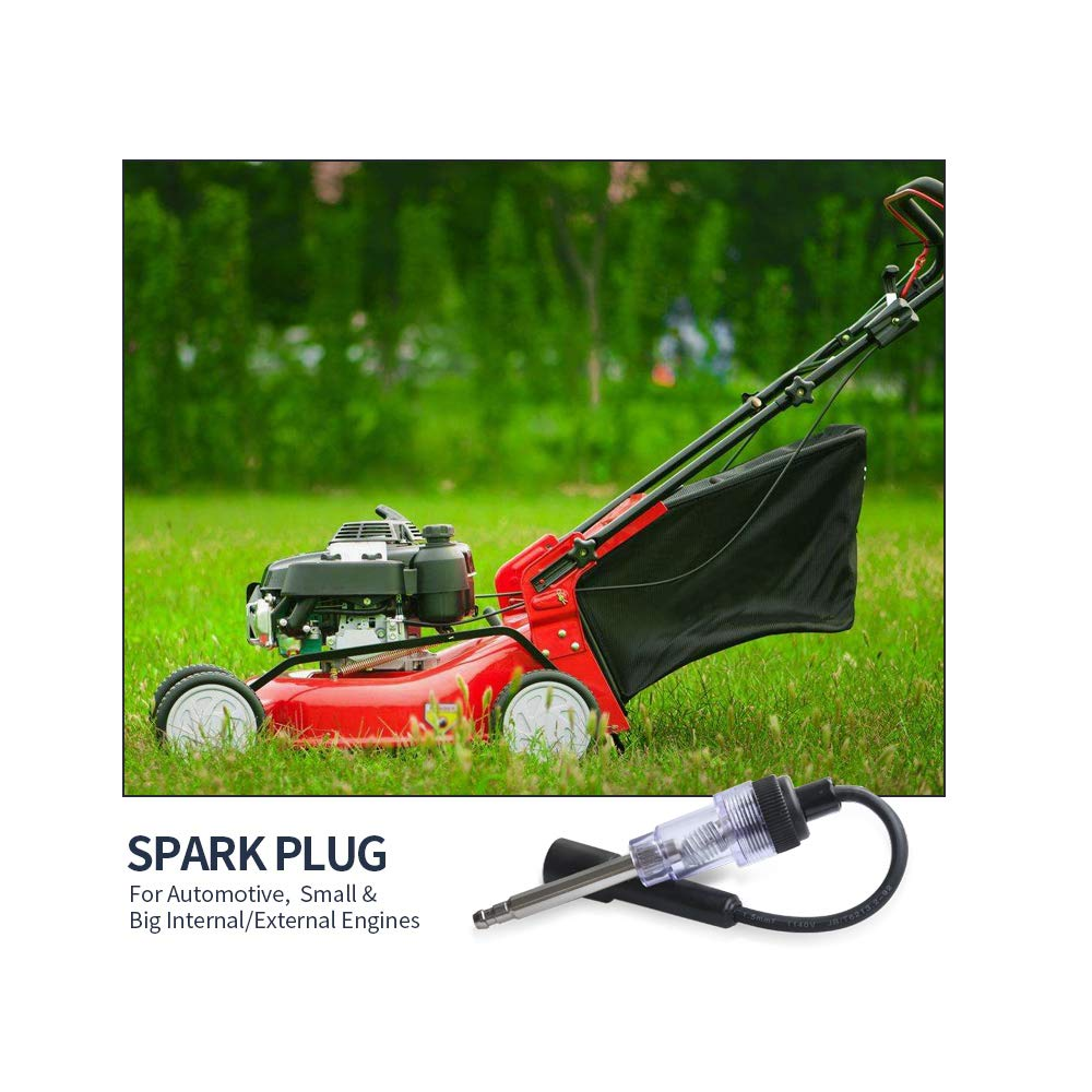 Hoypeyfiy Spark Plug Engine Ignition Tester for Automotive Car Lawnmower Small//Big Internal//External Engines 6-12 Volt Fool Coil//Armature Diagnostic Detector Tool