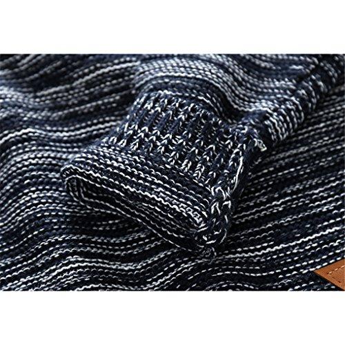 Little Boys Stripes Knitting Sweater Crewneck Sweatshirt Cotton Pullover Pajamas Deep Blue Size 100 by SanReach (Image #5)