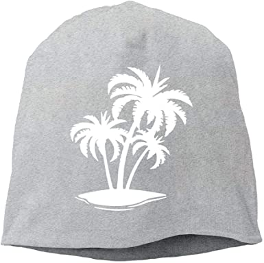 Men Women Hawaiian Palm Tree and Sea Turtle Skull Hat Beanie Cap Winter Knit Hat Cap