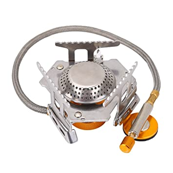 Aramox 3500W Mini Estufa Quemador Cocina al Aire Libre Cocina de aleación de Aluminio Estufa Plegable portátil para Hornear Picnic: Amazon.es: Deportes y ...