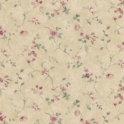 Manhattan Comfort NWPR33822 Everett Vinyl Painted Floral Trail Wallpaper, -