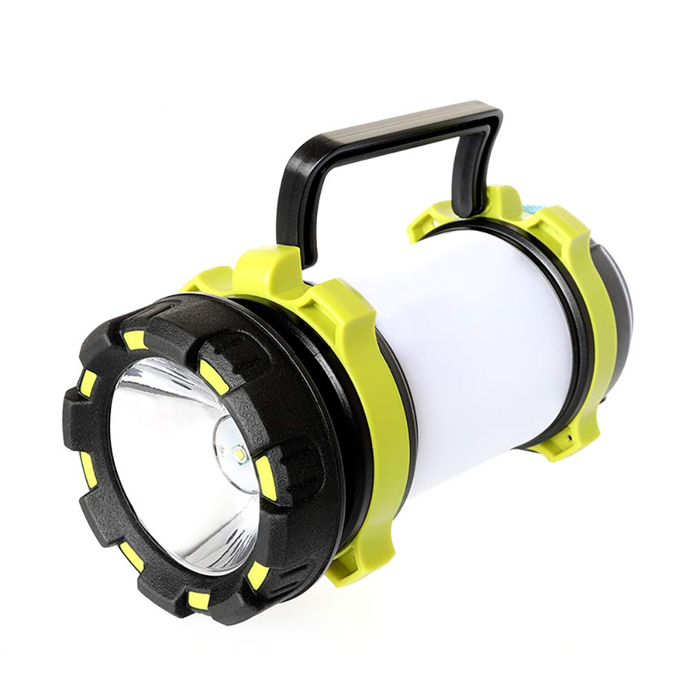 LED Camping Flashlight Lantern with USB Charger, Adjustable Brightness, White and Red Light, Portable for Outdoor, Emergency, Camping and Other Evening Activities
