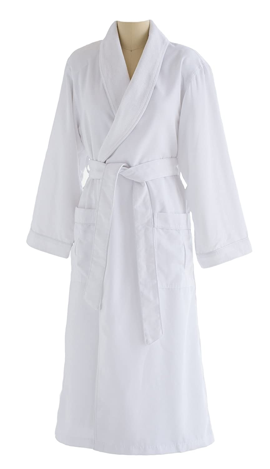 Chadsworth & Haig Ultimate Doeskin Microfiber Bathrobe Lined in Terry - Luxury Spa Bathrobe For Women and Men DSM4000