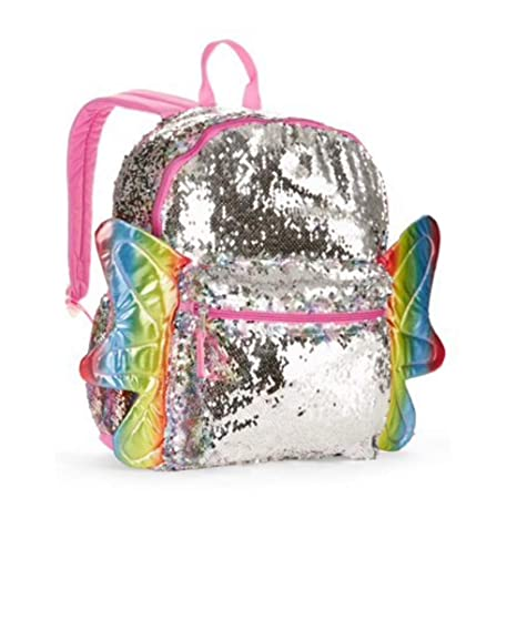 3756dc8b825e Rainbow Sequin Butterfly Backpack