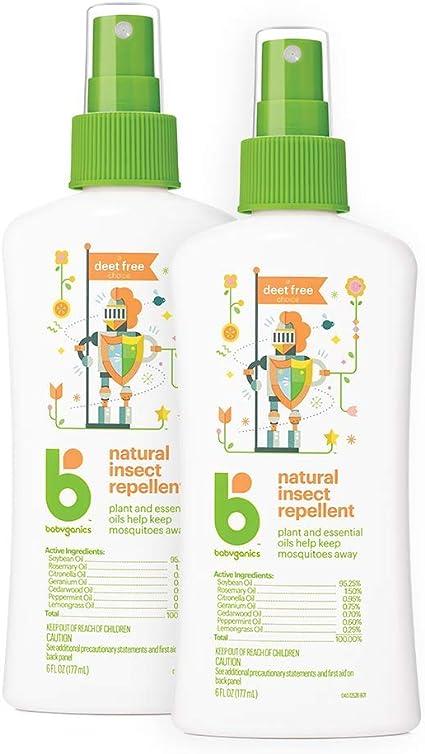 Amazon Com Babyganics Natural Bug Spray 6oz Spray Bottle Pack