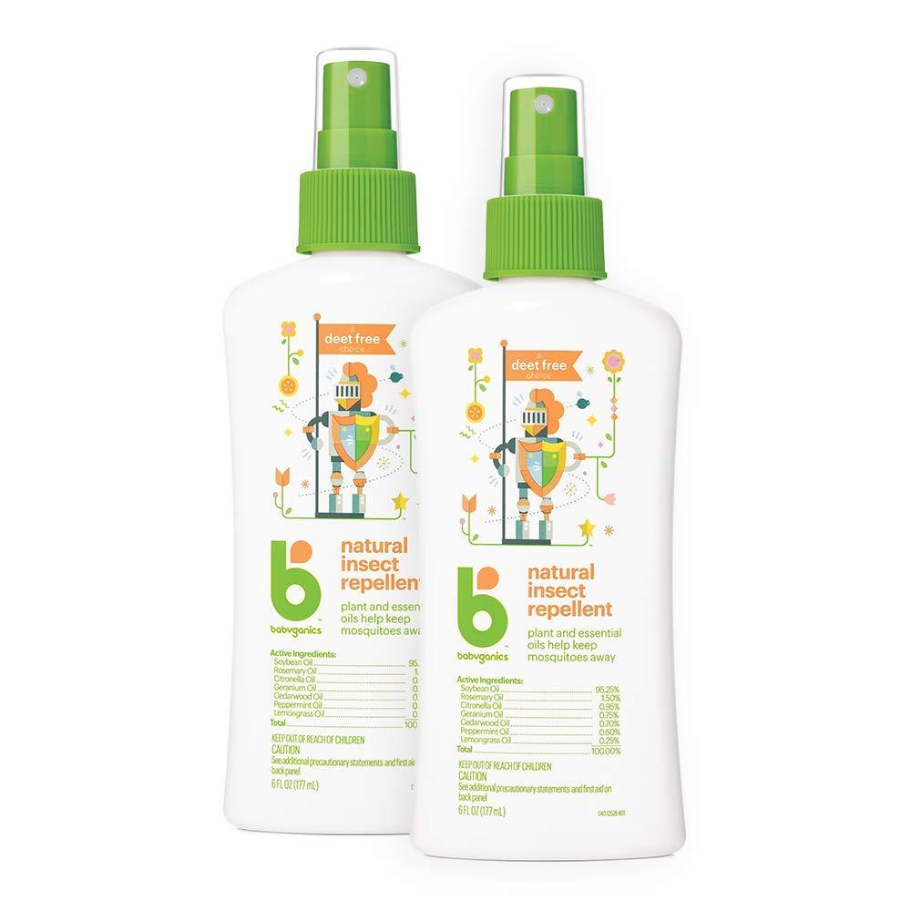 Babyganics Natural Bug Spray, 6oz Spray Bottle (Pack of 2), Packaging May Vary 61YuqtmLZyL