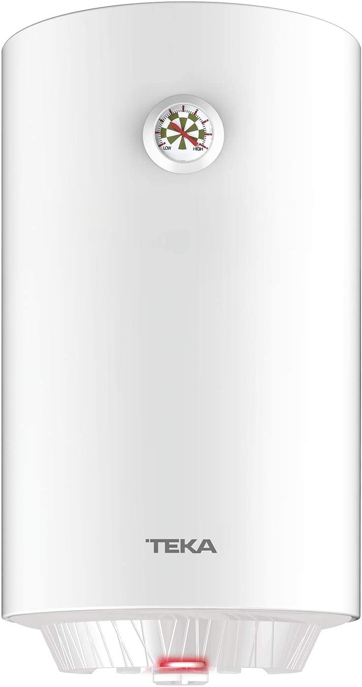 Teka   Termo eléctrico de 50 litros   EWH 50 C   Consumo medio para 2-3 personas   Tanque esmaltado Zafire   Color Blanco
