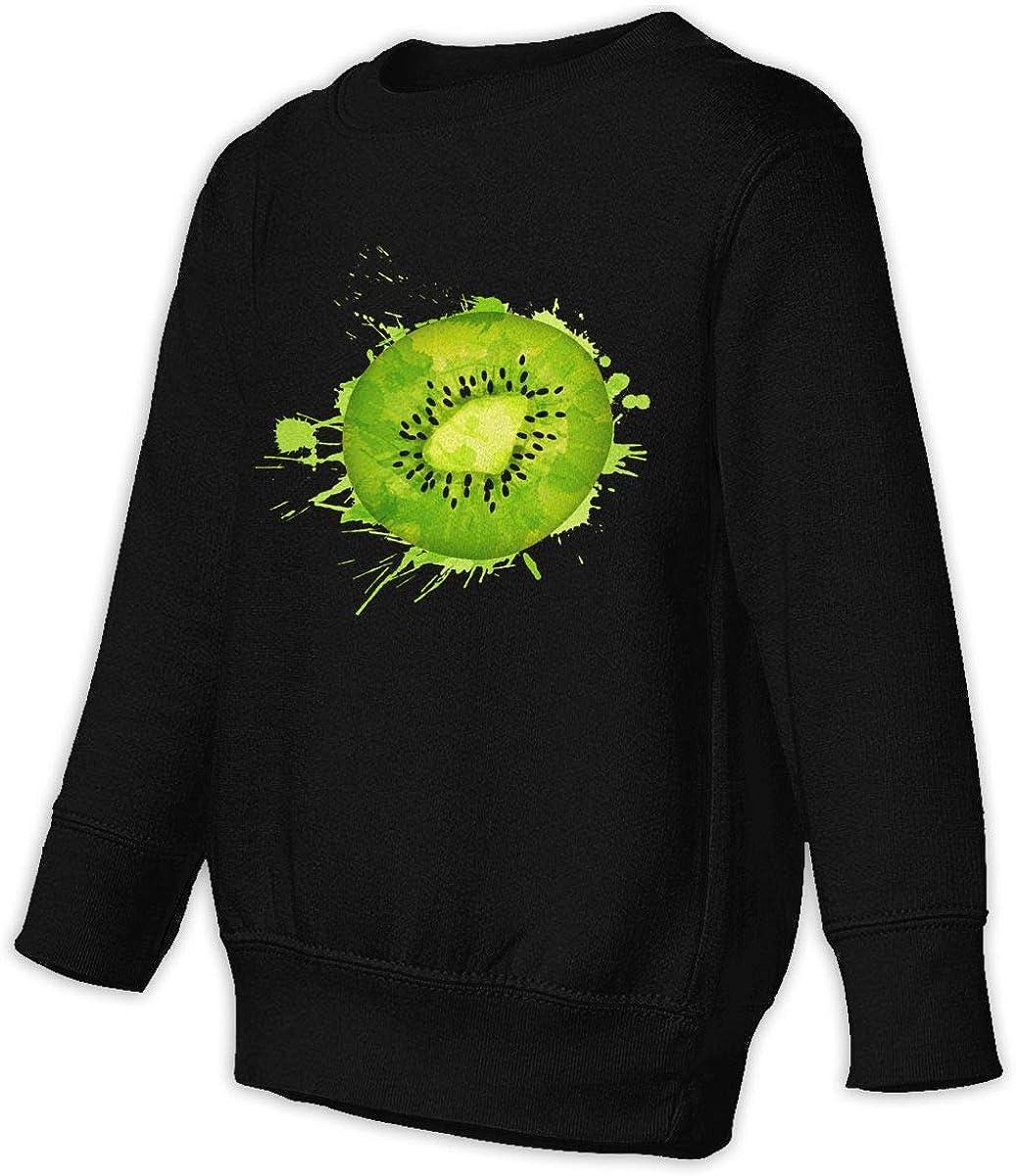 GHYNJUM Kiwi Berry Child Unisex Cotton Long Sleeve Round Neck Pullover