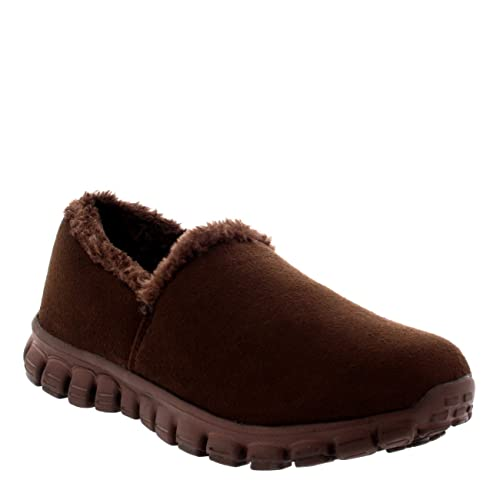 Mujer Pelaje Caliente Sin Cordones Zapatos para Caminar Entrenadores - Marrón - UK4/EU37 -