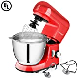 CHEFTRONIC Stand Mixer SM-985, 550W 6 Speeds Tilt-head Kitchen Electric Mixer 4.2 Quart Stainless Steel Bowl with Pouring Shield for Mother's Day, Xmas, Wedding, Thanksgiving, Birthday Gift