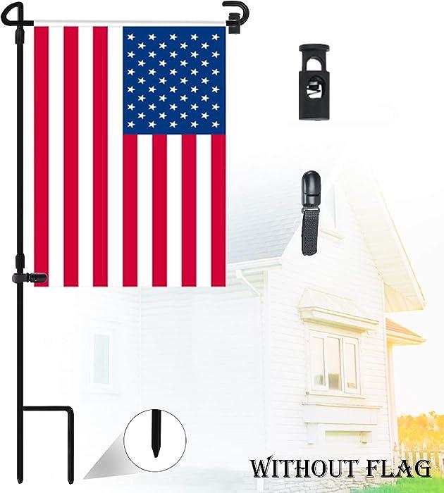 """Nirohee Garden Flag Stands,Garden Flags Holders,Yard Flag Stands,Garden Glag Pole,Garden Flag Holders for 12.5"""" Flags in Width"""