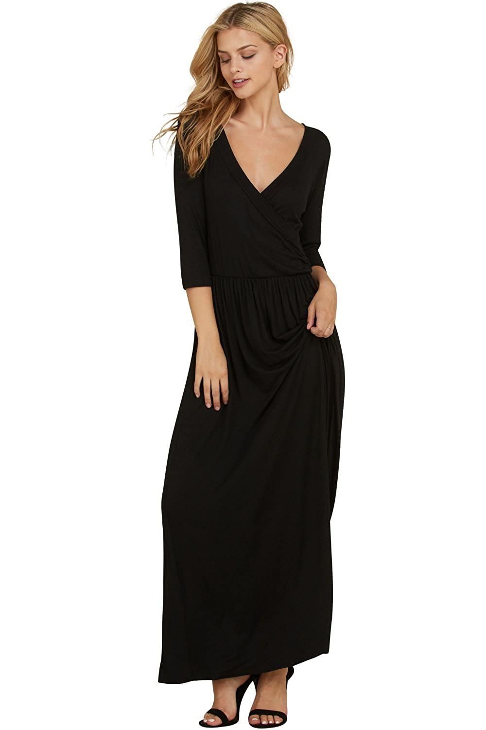 fb09bf8ef46 Keep it Under Wraps  Pleated Shirring Front Detail Dress Up or Dress Down  in Style with Our Trendy Maxi Dresses