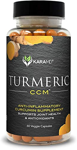 KaraMD Turmeric CCM 30 Servings Doctor Formulated Turmeric Curcuminoid Capsules for Men Women Natural Non-GMO Antioxidant Supplement for Help with Joint Support Inflammation