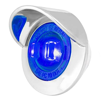 "GG Grand General 75235 Light (1-1/4"" Blue 1LED Dual Funct. with Clear Bezel and Visor): Automotive"