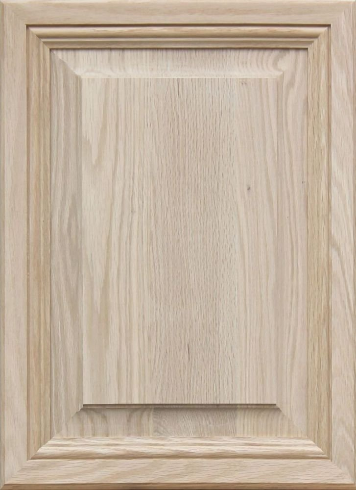 Unfinished Oak, Mitered Raised Panel Cabinet Door by Kendor, 22H x 16W