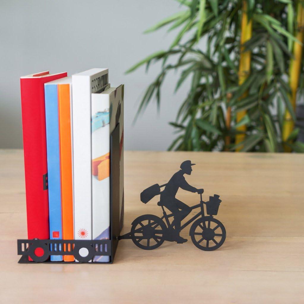 Balvi Sujeta Libros Postman Color Negro Decorativo Metal