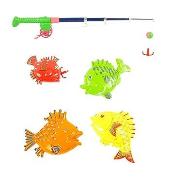 esHomyl Para Niños De 1 Pesca Magnética Amazon Juguete Caña thrsCQd