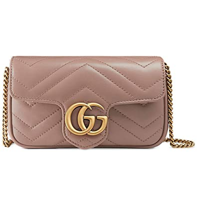 1a6422fab21a Image Unavailable. Image not available for. Color: Gucci GG Marmont  matelassé Leather Super Mini Bag ...