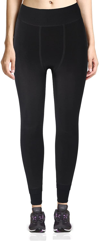 LYZ Seamless Full Length High Waist Stretch Smooth Leggings Plus Velvet