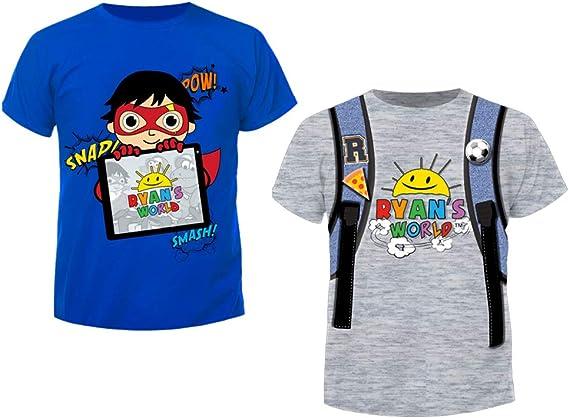 Ryan/'s World T-ShirtKids Ryans World Short Sleeve TopBoys Ryan/'s World Tee