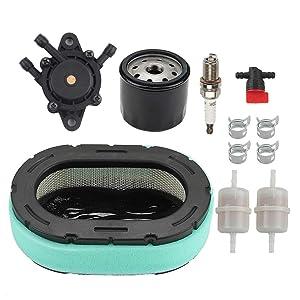 ATVATP 32 083 09-S Air Filter for Kohler 32 083 10-S KT715 KT725 KT730 KT735 KT740 KT745 KT610 KT620 Lawn Mower & 12 050 01-S Oil Filter 24 393 16S Fuel Pump