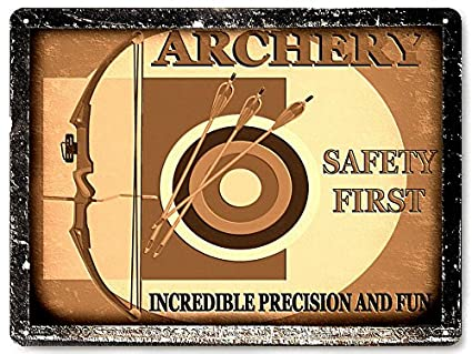 Amazon.com: Bow and arrows metal sign archery gift / hunger games ...