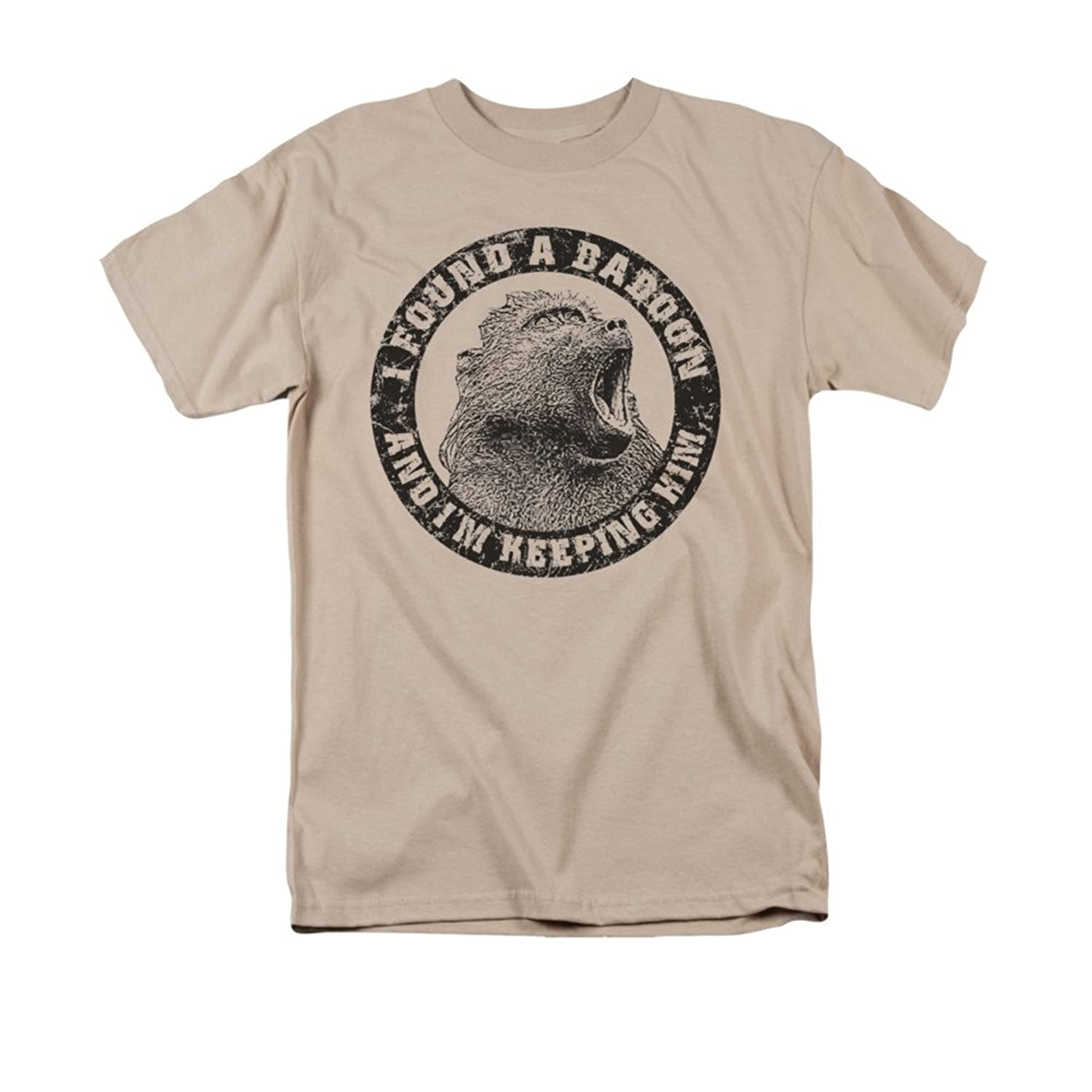 I Found a Baboon And I'm Keeping Him Funny Saying Adult T-Shirt