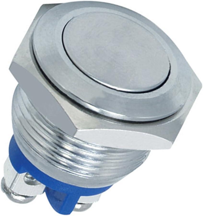 BargainBitz 12V Momentary Push Button Switch 20A Vandal Proof Auto Car Dash Horn Starter Sh7