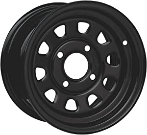 ITP Delta Steel Wheel - 12x7 - 2+5 Offset - 4/110 - Black , Bolt Pattern: 4/110, Rim Offset: 2+5, Wheel Rim Size: 12x7, Color: Black, Position: Front/Rear D12R511