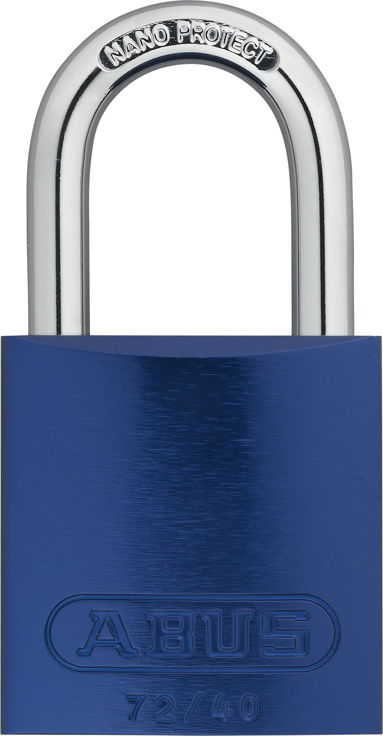 ABUS 72/40 Aluminum Safety Padlock Blue Keyed Different