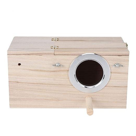 Lecxin Birds House, Caja de Nido de pájaros Duradera de Madera ...