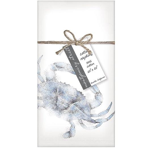 Montgomery Street Blue Crab Cotton Napkins Set of 4