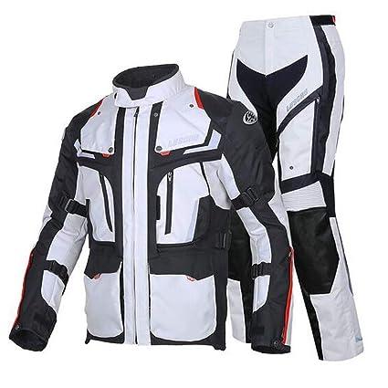 OTRG 2 Piezas Traje de Moto Chaqueta Pantalón de Motorista ...