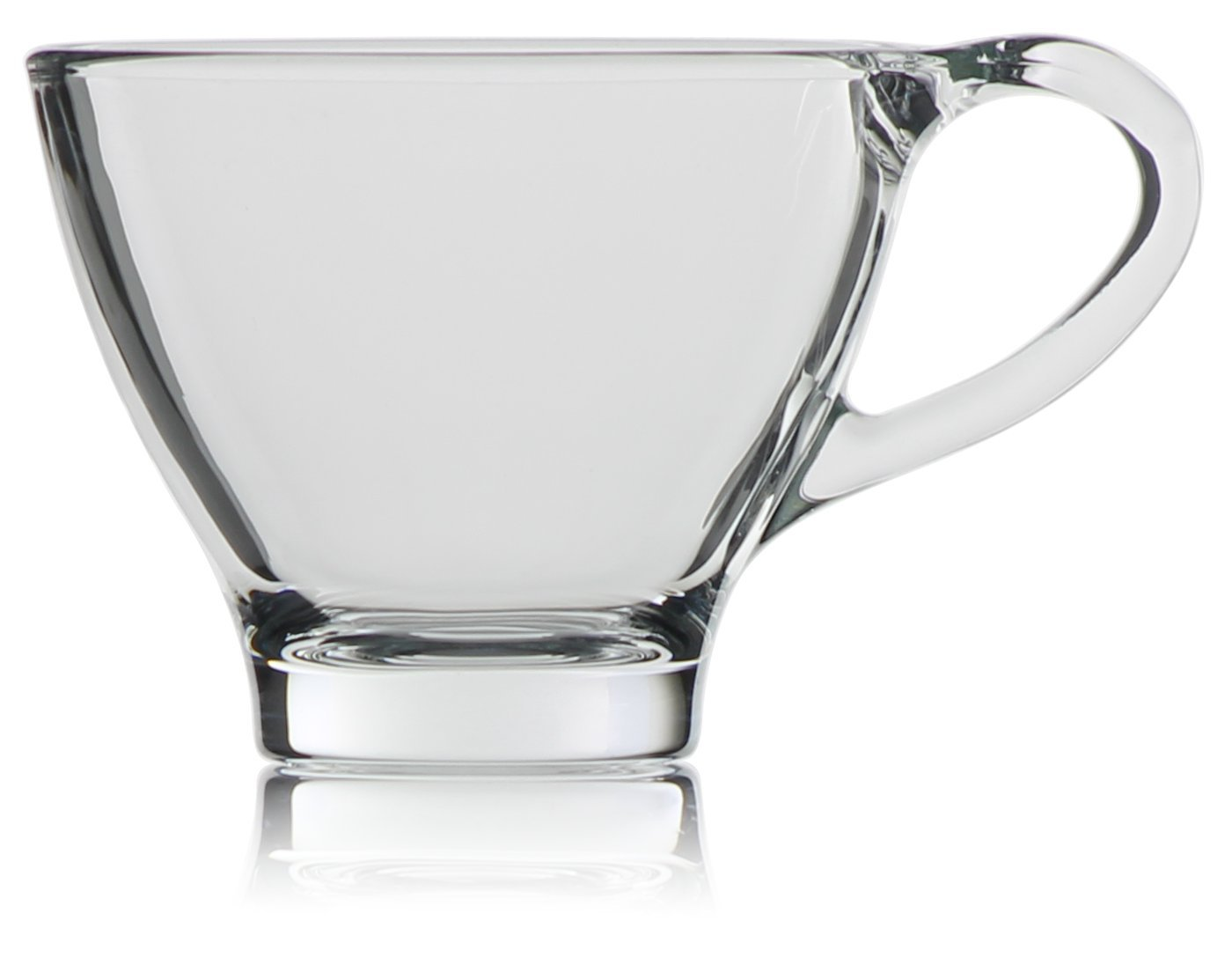 Hikari 6oz Espresso Shot Glasses Cups w/Handles; Keeps Beverages Hot. Perfect for Nespresso, Coffee, Cappuccino or Any Other Short Drinks, Set of 6 (Gift Boxed)