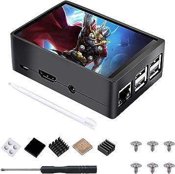 STARTOGOO Raspberry Pi Pantalla táctil LCD de 3,5 pulgadas TFT Monitor 320x480 Resolución Caja Metal