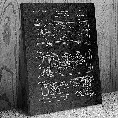 Patent Art Print Chalkboard (Black) (12
