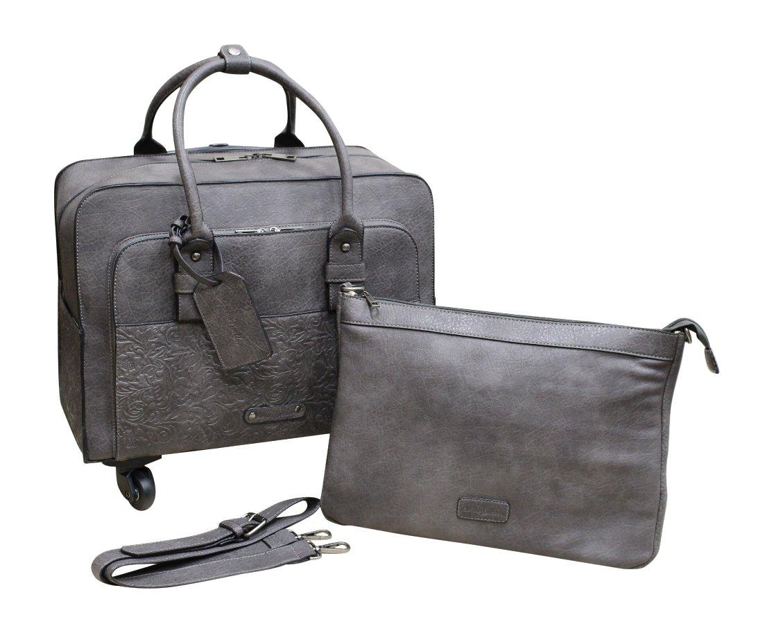 Simply Noelle Tooled Roller Bag (Slate)