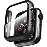 Smiling Case for Apple Watch Series 6/ SE/Series 5/4 44mm with Built in Screen Protector-All Around Hard PC Case with…