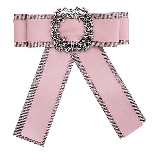 Neckchiefs Corbata de Mujer Joyería Pajarita Arco Cinta Rhinestone ...