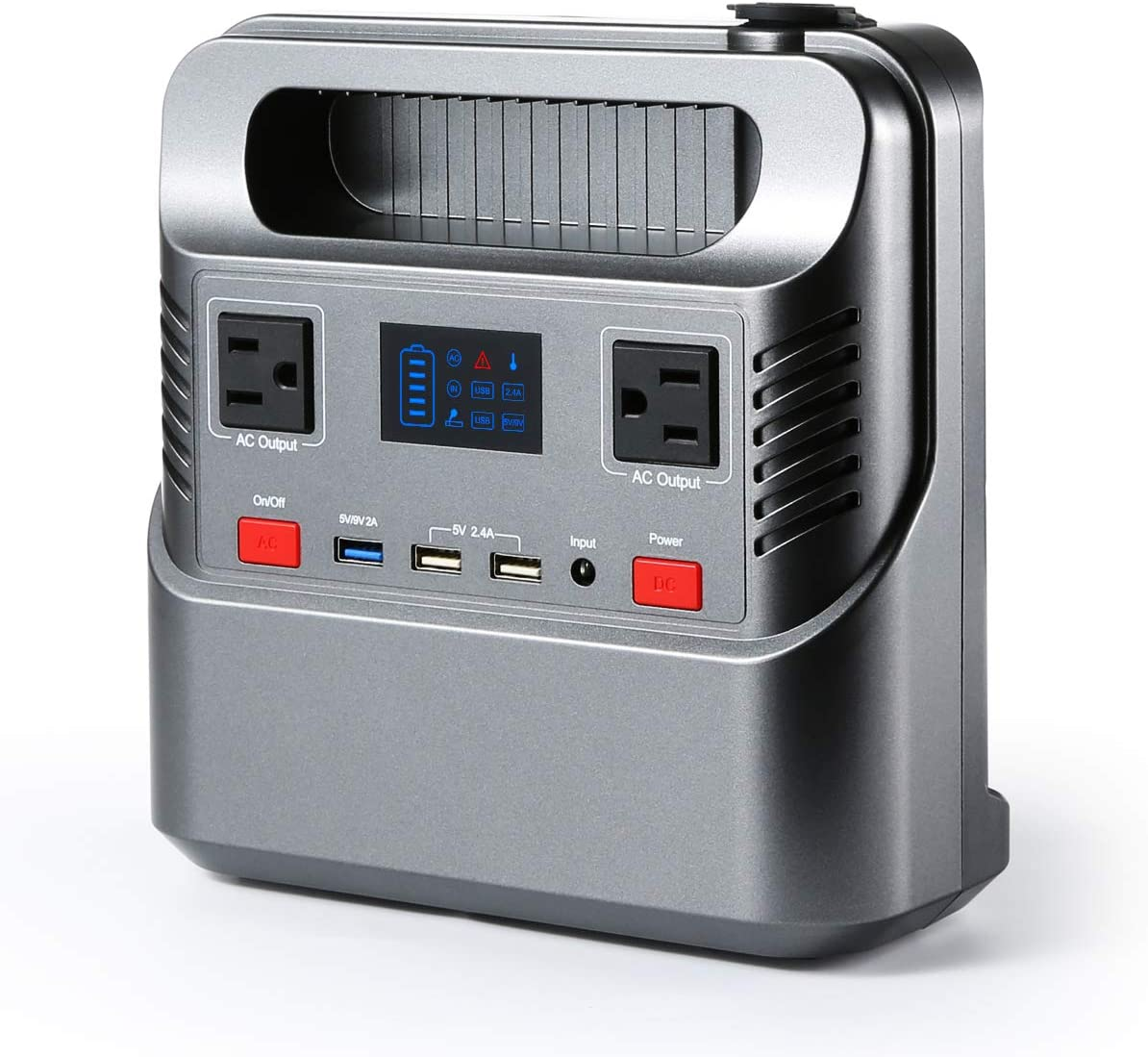 SOLAPOWER 750W Generator Portable Power Station- UPS 750W Continuous 1000W Peak -Lithium Battery Inverter with 110V AC Outlet, 4 DC 12V Port, 4 USB, Solar Generators for Camping CPAP Emergency Home