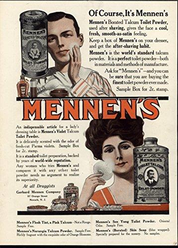 Violet Talcum Toilet Powder Beautiful Smooth 1910 antique advertising print