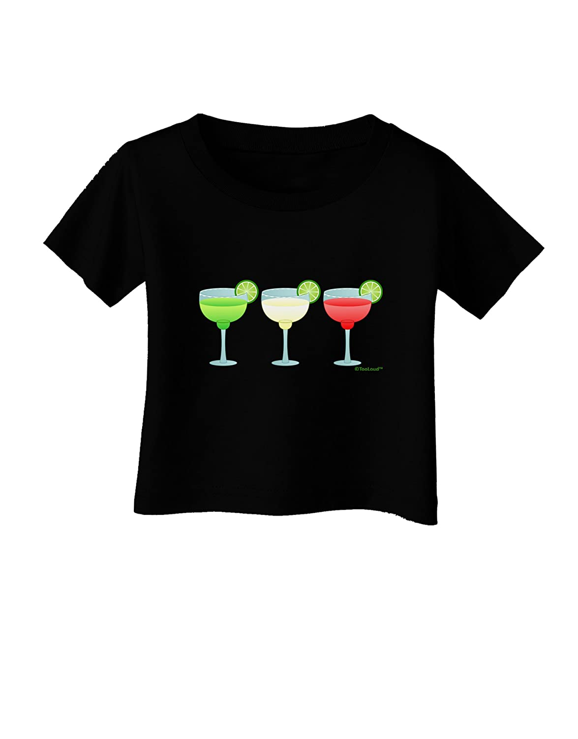 Mexican Flag Colors TooLoud Margaritas Cinco de Mayo Infant T-Shirt Dark