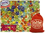"Deluxe 4 Pounds (300+ Count) of Cat's Eyes Marbles & Shooters with Exclusive ""Matty's Toy Stop"" Storage Bag"