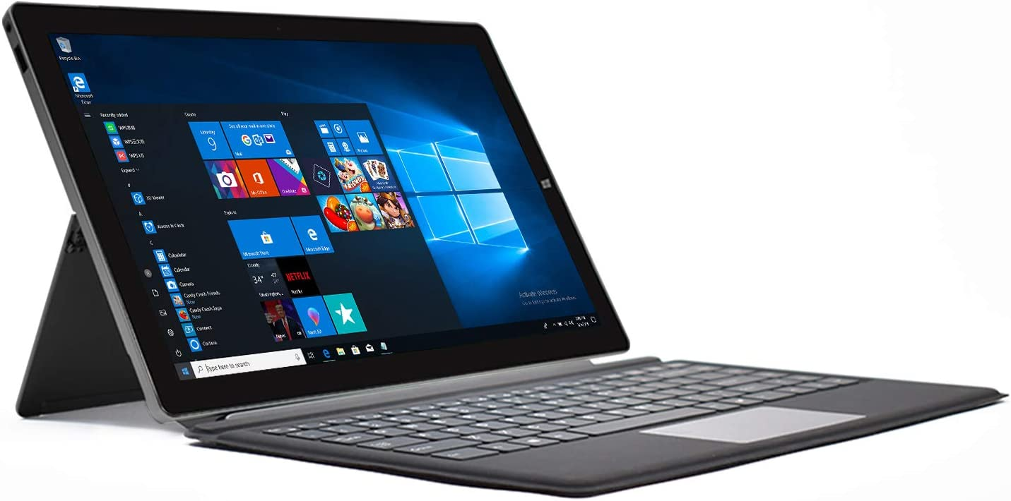 Laptops 2 in 1, 13.3 inch Full HD IPS 1920x1080 Touchscreen, 4GB RAM, 64GB ROM, Intel Celeron Processor, Windows 10, Detachable Keyboard, Support 128GB SSD Extension, WinBook