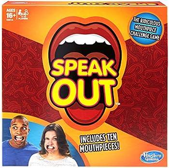 Hasbro Speak Out Game w/10 Mouthpieces