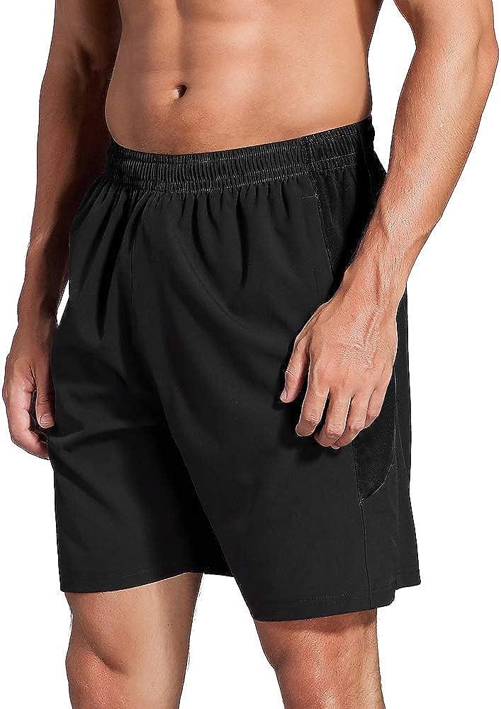 Corsa Pallacanestro Basket ZENGVEE Pantaloncini Uomo con Tasche con Cerniera Quick Dry Shorts Pantaloni Corti Uomo Sportivi Leggeri per Boxe