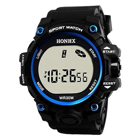 Y56 Sport LED Resistente al Agua Digital Watch Reloj de Pulsera Mode Outdoor Cuarzo analógico Hombre