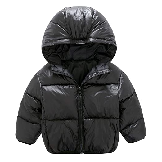 ff0ed7fa3 Baby Boys Girls Light Hooded Down Jacket Winter Warm Quilted Coat Zipper  Puffer